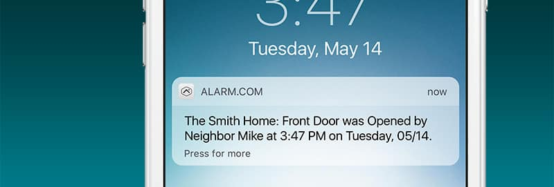 Notification for Door Open on Mobile App